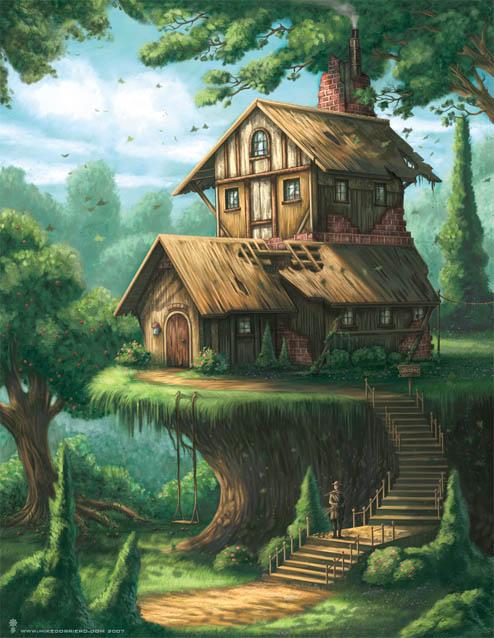 Наш волшебный зеленый дом картинки и рисунки - красивые и удивительные 13