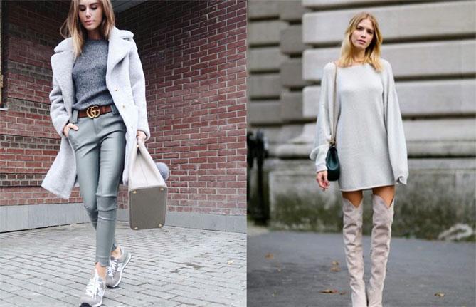 С какими цветами сочетается серый цвет - в одежде или интерьере 9