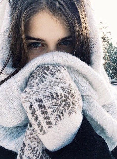 Девушка зимой картинки на аву - самые прикольные и красивые 11