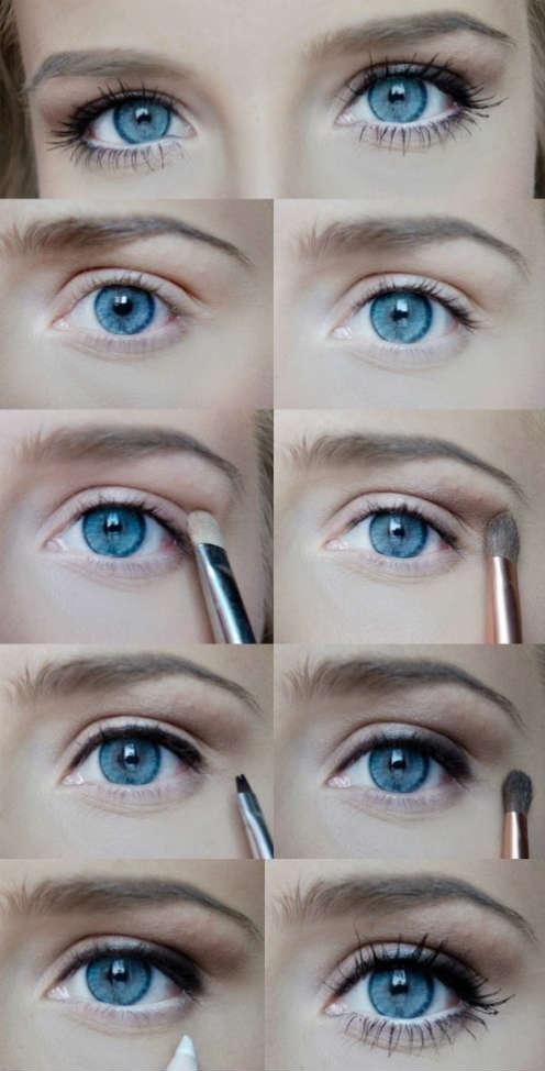 Как сделать идеальный макияж для голубых глаз - простые советы 2