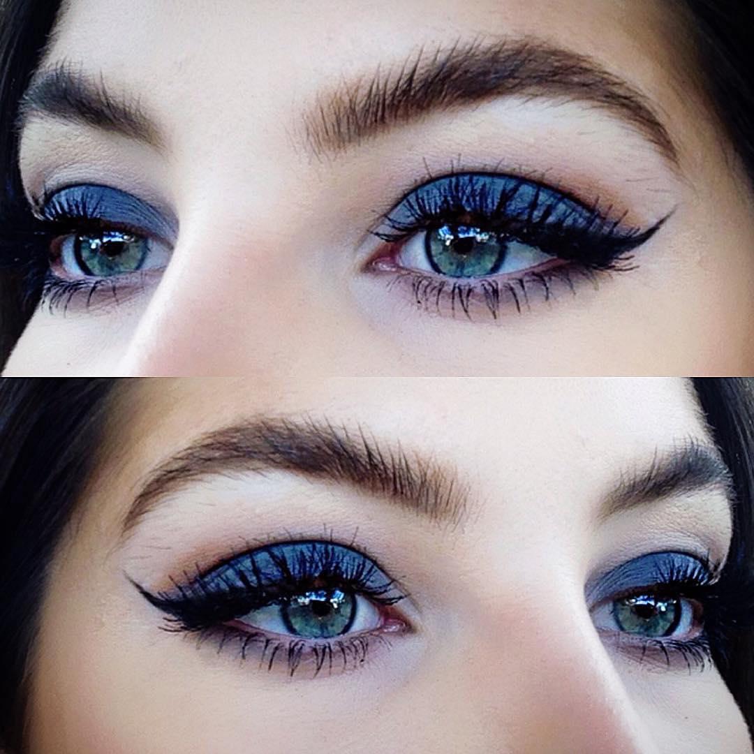 Как сделать идеальный макияж для голубых глаз - простые советы 3