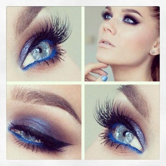 Как сделать идеальный макияж для голубых глаз - простые советы 4