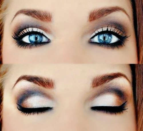 Как сделать идеальный макияж для голубых глаз - простые советы 5