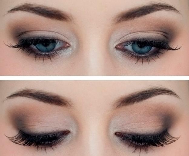 Как сделать идеальный макияж для голубых глаз - простые советы 7