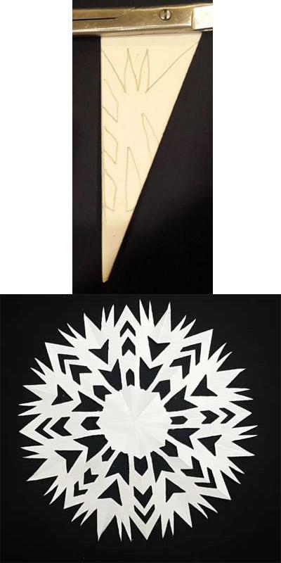 Как сделать снежинку из бумаги своими руками - лучшие схемы и варианты 13