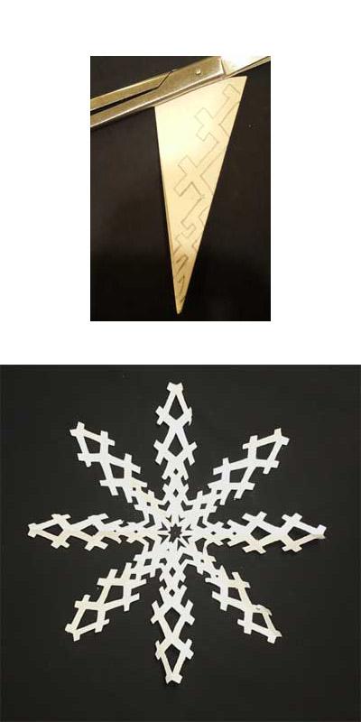 Как сделать снежинку из бумаги своими руками - лучшие схемы и варианты 14