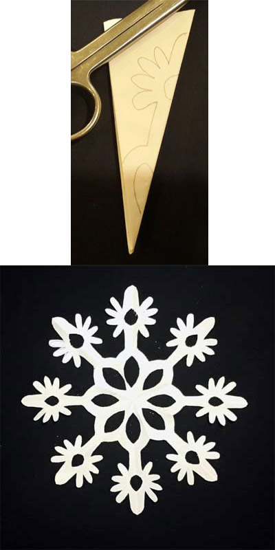 Как сделать снежинку из бумаги своими руками - лучшие схемы и варианты 15