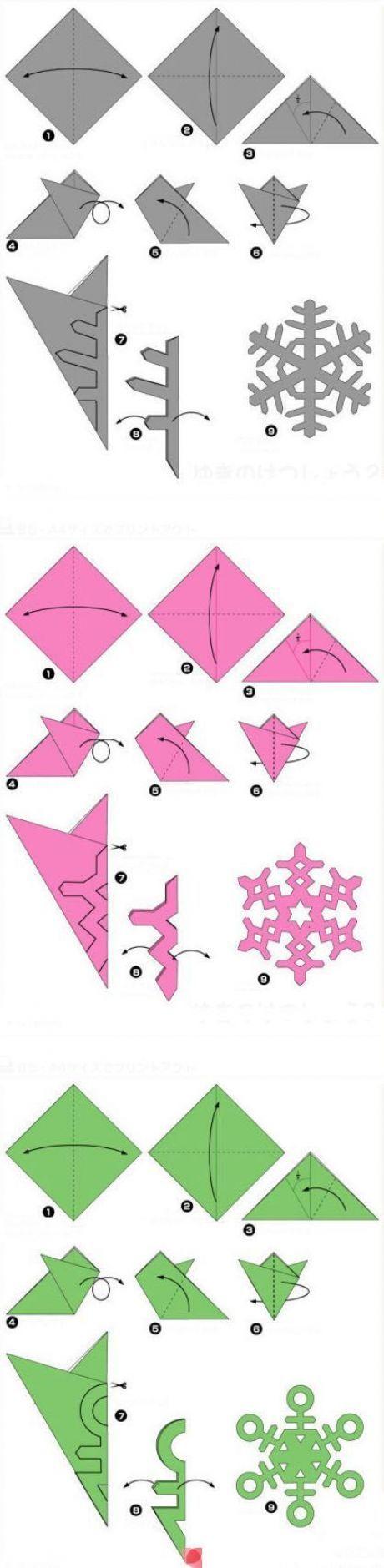 Как сделать снежинку из бумаги своими руками - лучшие схемы и варианты 2