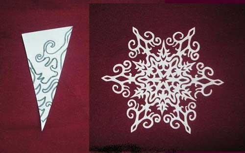 Как сделать снежинку из бумаги своими руками - лучшие схемы и варианты 20