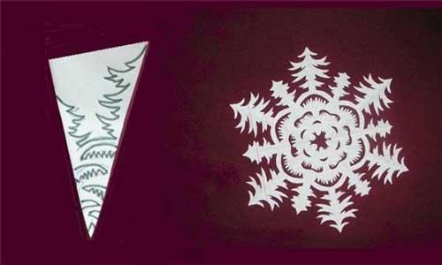 Как сделать снежинку из бумаги своими руками - лучшие схемы и варианты 21