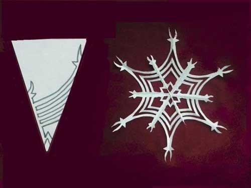 Как сделать снежинку из бумаги своими руками - лучшие схемы и варианты 22