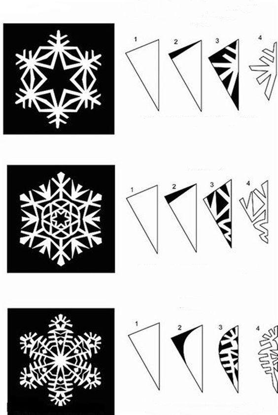 Как сделать снежинку из бумаги своими руками - лучшие схемы и варианты 23