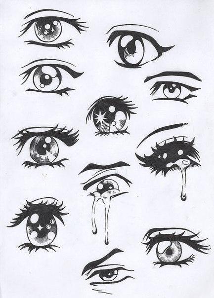 Картинки для срисовки глаза девушек и парней - красивые и прикольные 11