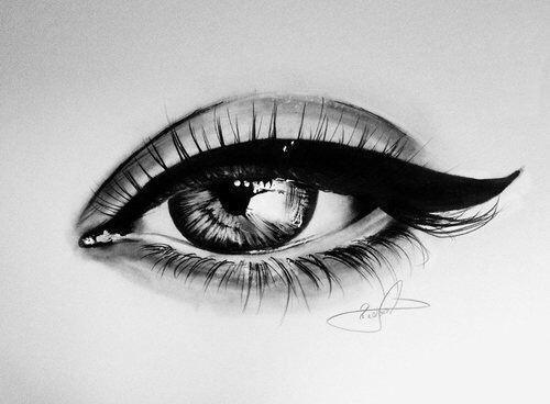 Картинки для срисовки глаза девушек и парней - красивые и прикольные 12