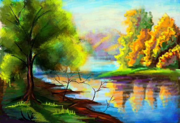 Картинки для срисовки пейзаж - самые красивые и удивительные 5