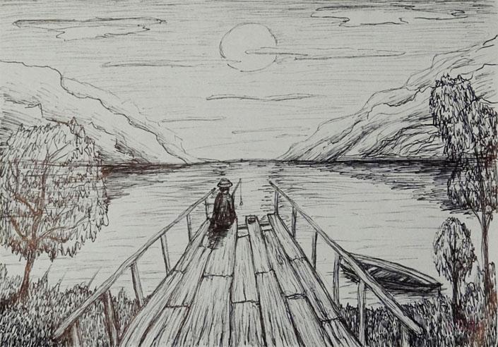 Картинки для срисовки пейзаж - самые красивые и удивительные 6