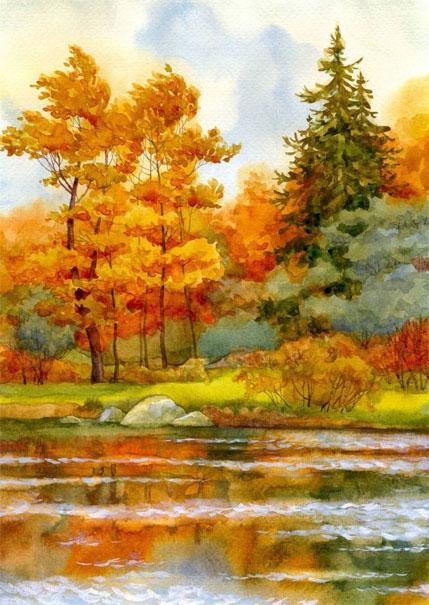 Картинки для срисовки пейзаж - самые красивые и удивительные 8