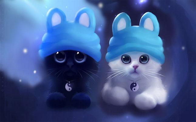 Кот и кошка картинки для детей - самые прикольные и интересные 15