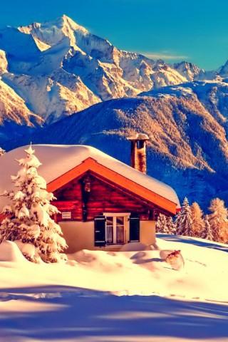 Красивые зимние картинки на телефон - самые интересные, скачать 2018 18
