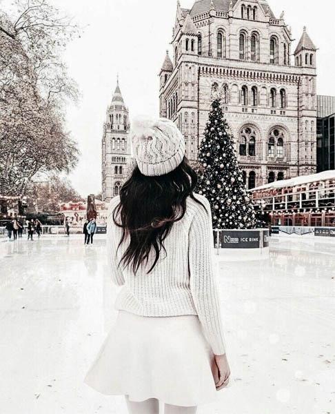 Красивые и удивительные фото девушек на аву зимой - скачать подборку 17