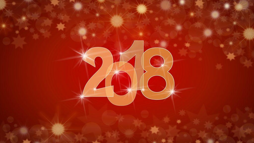 Красивые обои для рабочего стола Новый год 2018 - скачать бесплатно 1