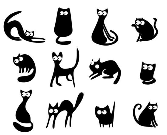 Красивые силуэты кошки картинки и изображения - интересная подборка 5