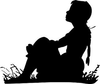 Прикольные и красивые силуэты детей - картинки и изображения 7