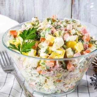 Салаты на Новый год 2018 - легкие и простые рецепты вкусных салатов 1
