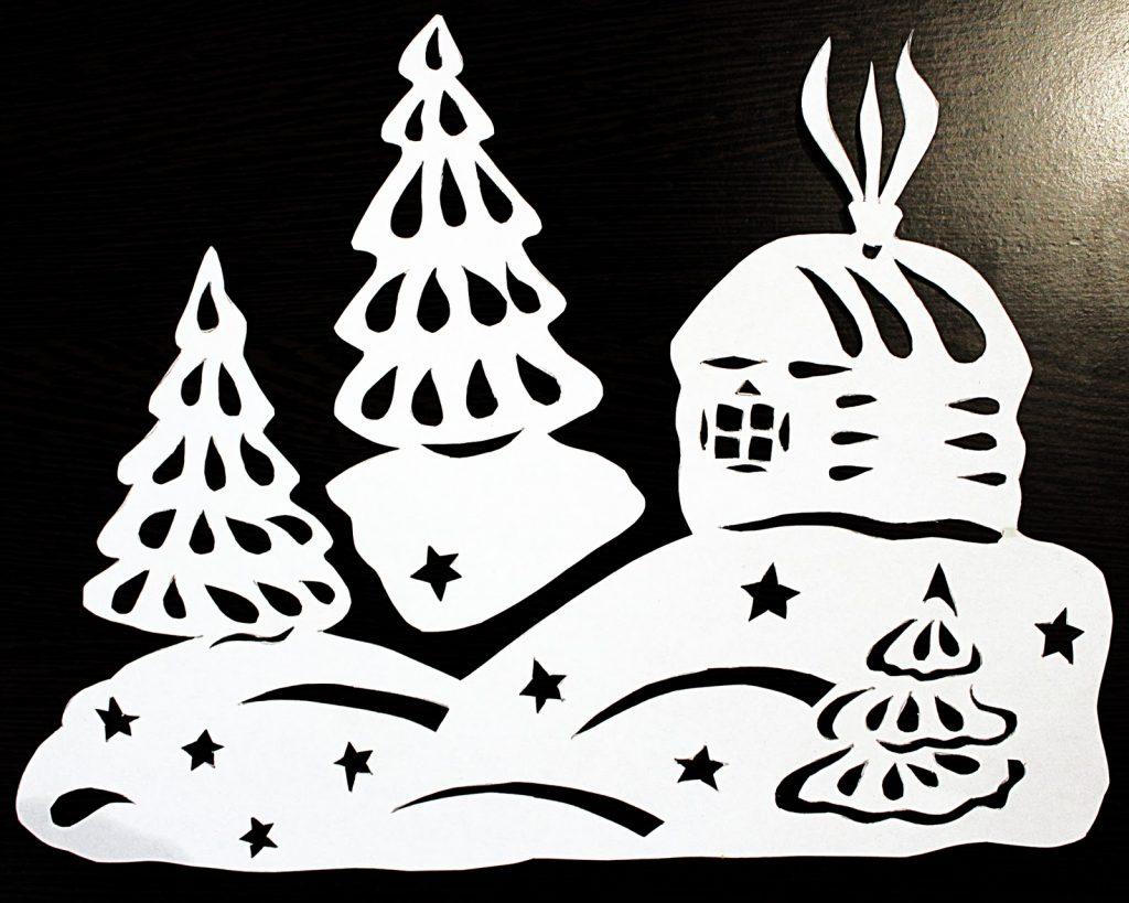 Для окон из бумаги своими руками новогоднее