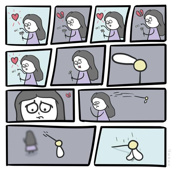 Забавные и интересные комиксы про любовь - самые красивые 1