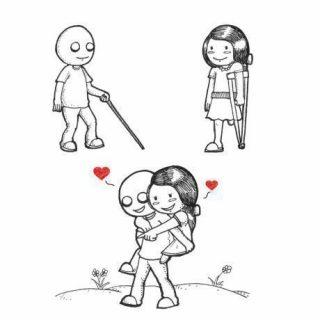 Забавные и интересные комиксы про любовь - самые красивые 6