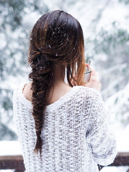 Картинки девушки зимой со спины на аву - красивые и прикольные 5