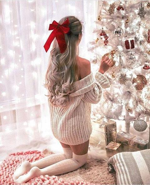 Картинки девушки зимой со спины на аву - красивые и прикольные 8