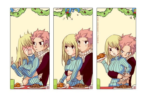 Комиксы про Нацу и Люси Fairy Tail - самые красивые и прикольные 11