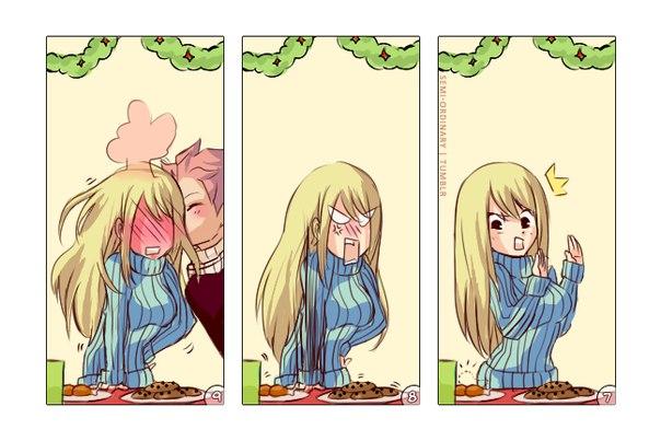 Комиксы про Нацу и Люси Fairy Tail - самые красивые и прикольные 9