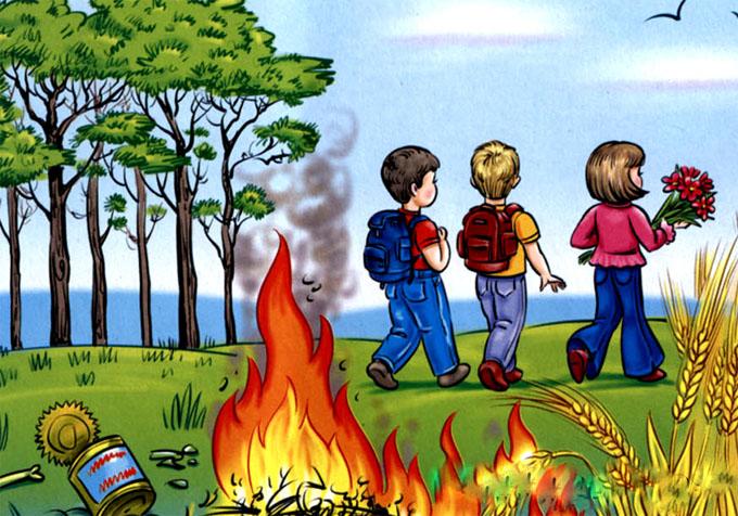Красивые и интересные рисунки на тему пожарная безопасность - для детей 10