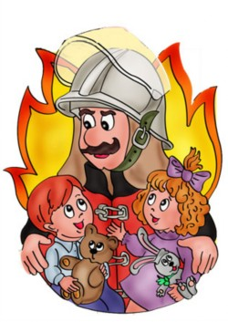 Красивые и интересные рисунки на тему пожарная безопасность - для детей 2