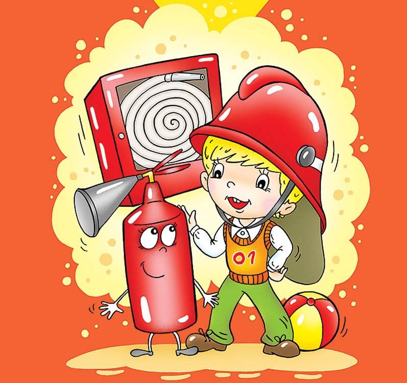 Красивые и интересные рисунки на тему пожарная безопасность - для детей 5
