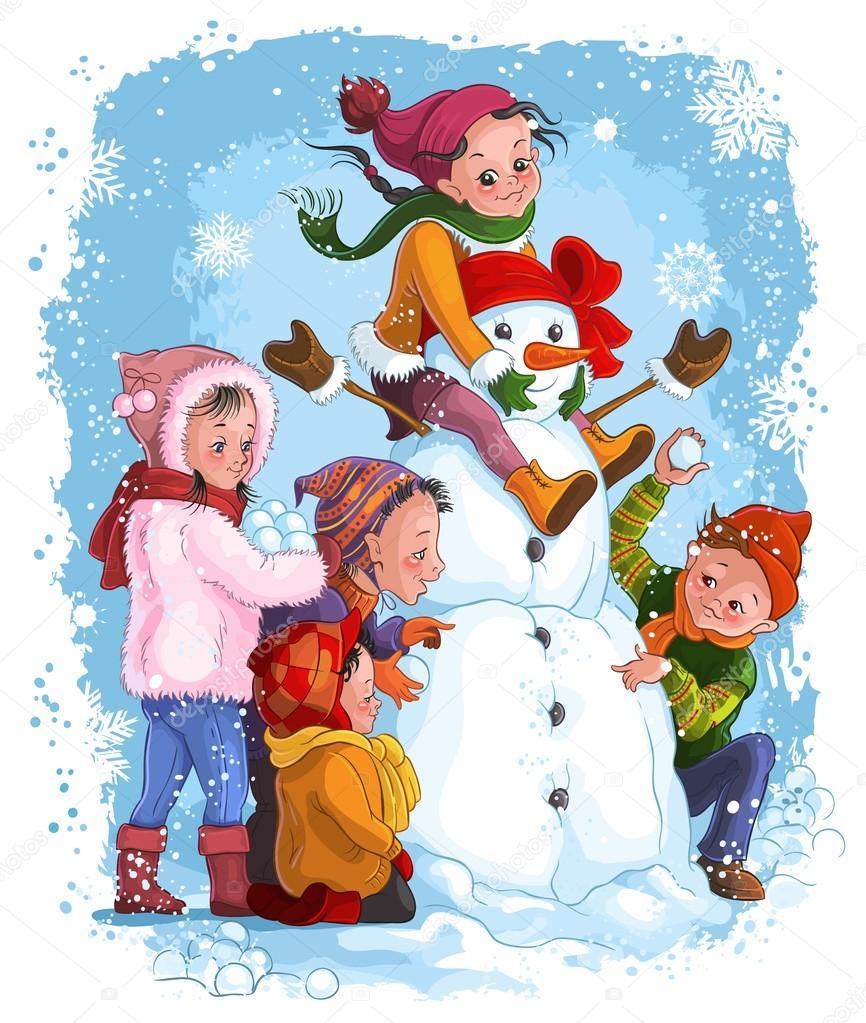Красивые и прикольные рисунки на тему зимние забавы - скачать бесплатно 2