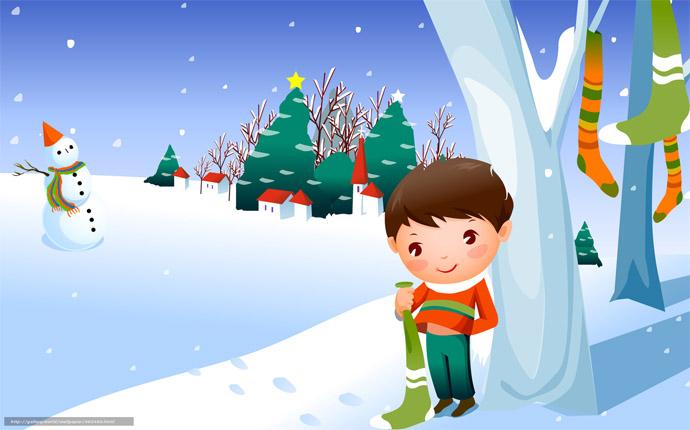 Красивые и прикольные рисунки на тему зимние забавы - скачать бесплатно 6
