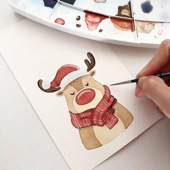 Новогодние картинки для срисовки - самые красивые и прикольные 13
