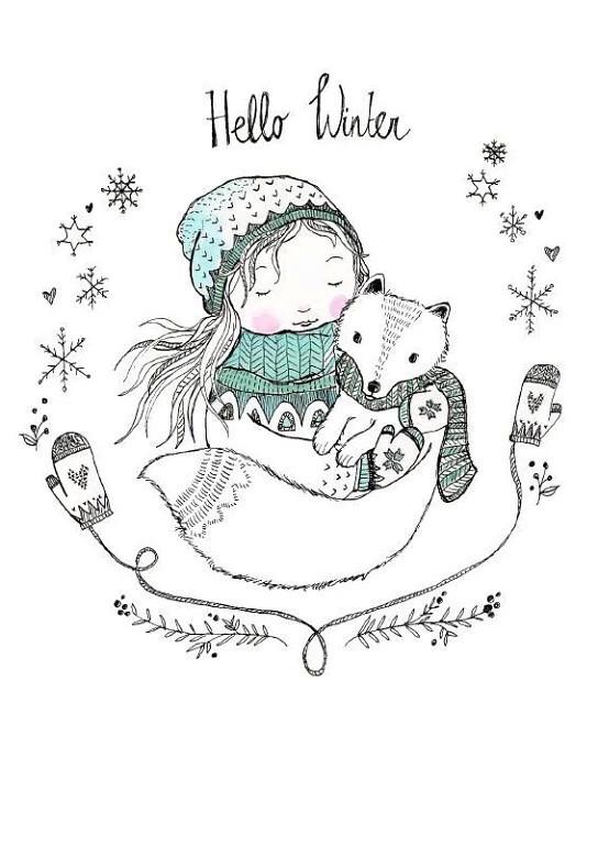 Новогодние картинки для срисовки - самые красивые и прикольные 15