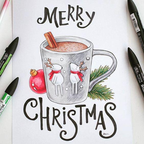 Новогодние картинки для срисовки - самые красивые и прикольные 16