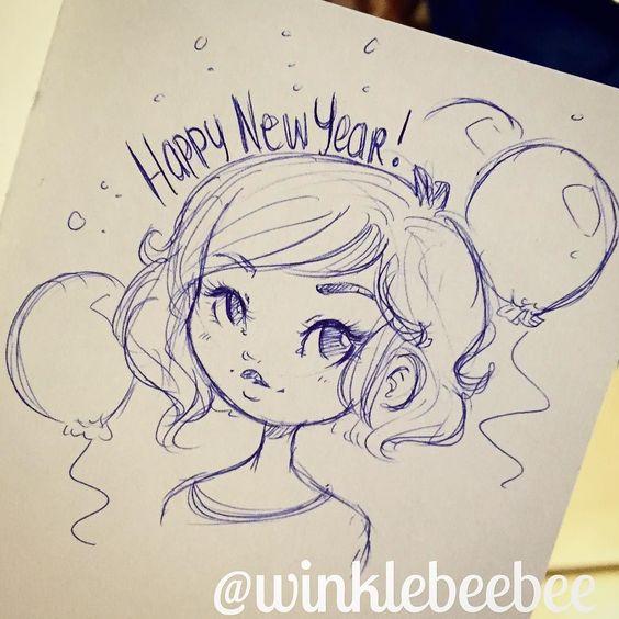 Новогодние картинки для срисовки - самые красивые и прикольные 6