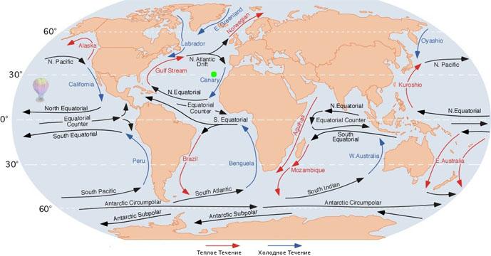 Основные виды движения воды в океане - причины и факторы 3