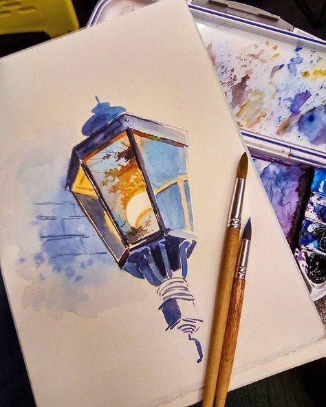 Прикольные и красивые рисунки акварелью для срисовки - скачать 2018 10