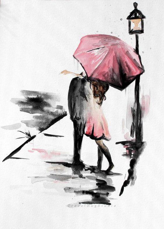Прикольные и красивые рисунки акварелью для срисовки - скачать 2018 6