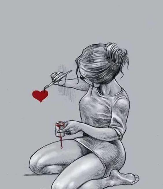 Прикольные и красивые рисунки для срисовки любовь - скачать онлайн 3