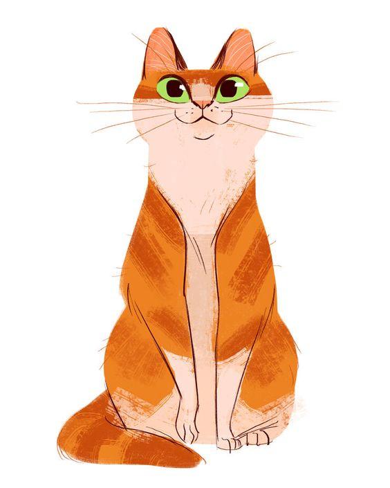 Рисунки котиков и кошек для срисовки - красивые и прикольные 2