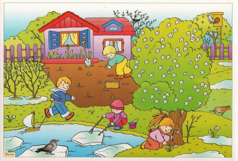 Картинки на тему Весна для детского сада - самые красивые и прикольные 19